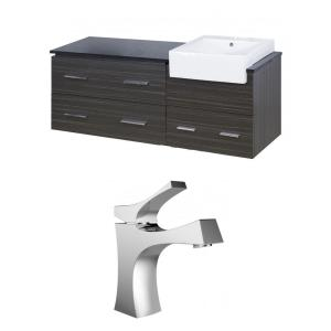 """Xena Farmhouse - 60.75"""" Wall Mount Vanity Set For 1 Hole Drilling with Top"""