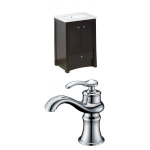 """Elite - 31.75"""" Floor Mount Vanity Set For 1 Hole Drilling with Top and Undermount Sink"""