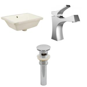 "18.25"" Rectangle Undermount Sink Set with 1 Hole Faucet and Overflow Drain Included"