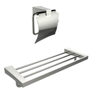"24.21"" Multi-Rod Towel Rack with A Toilet Paper Holder Accessory Set"