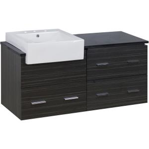 """Xena Farmhouse - 48.75"""" Wall Mount Vanity Set For 3H8-in. Drilling with Top"""