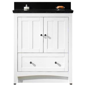 """Shaker - 30.5"""" Floor Mount Vanity Set For 3H4-in. Drilling with Top and Undermount Sink"""