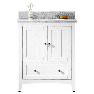"""Shaker - 30.5"""" Floor Mount Vanity Set For 3H8-in. Drilling with Top and Undermount Sink"""