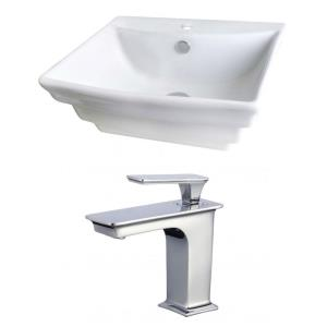 19.75 Inch Above Counter Vessel Set for 1 Hole Center Faucet