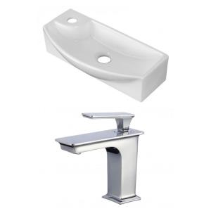 17.75 Inch Wall Mount Vessel Set For 1 Hole Right Faucet - Faucet Included