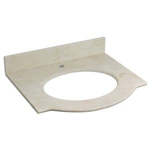 Tiffany - 25.5 Inch Marble Top For 1 Hole Faucet