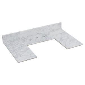35.5 Inch Marble Top For 3H8-in. Faucet