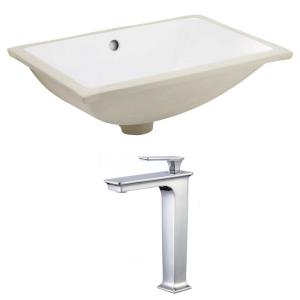 20.75 Inch Rectangle Undermount Sink Set for Deck Mount Drilling