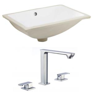 20.75 Inch 3H8-in. Rectangle Undermount Sink Set