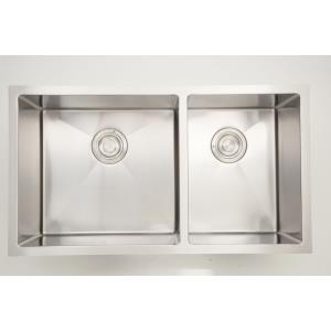 34 Inch Undermount Kitchen Sink For Deck Mount Center Drilling