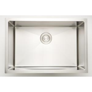 23 Inch Undermount Kitchen Sink For Deck Mount Center Drilling