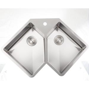 36.375 Inch Undermount Kitchen Sink For 1 Hole Center Drilling