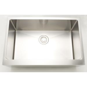 33 Inch Undermount Kitchen Sink For Deck Mount Center Drilling