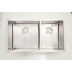 33 Inch Undermount Kitchen Sink For Wall Mount Center Drilling