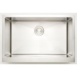 29 Inch Undermount Kitchen Sink For Deck Mount Center Drilling