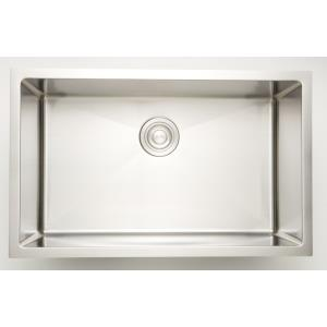 27 Inch Undermount Kitchen Sink For Wall Mount Center Drilling