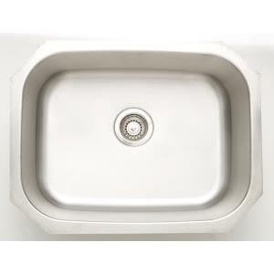 24.75 Inch Undermount Kitchen Sink For Deck Mount Center Drilling