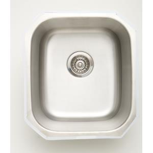 16.5 Inch Undermount Kitchen Sink For Wall Mount Center Drilling