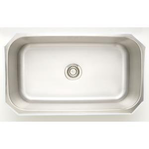 "31.5"" Undermount Kitchen Sink For Wall Mount Center Drilling"