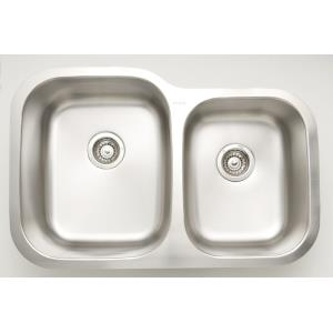 29.625 Inch Undermount Kitchen Sink For Wall Mount Center Drilling