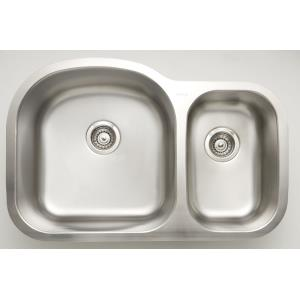31.5 Inch Undermount Kitchen Sink For Wall Mount Center Drilling
