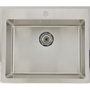 23.75 Inch Drop-In Kitchen Sink For 1 Hole Center Drilling