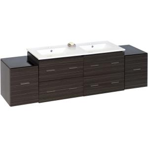 """Xena - 74.5"""" Wall Mount Vanity Set For 1 Hole Drilling"""