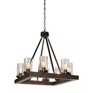 Jasper Park-8 Light Chandelier-23 Inches Wide by 24 Inches High