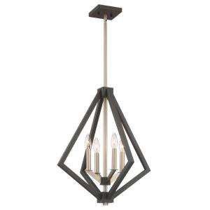 Breezy Point-4 Light Chandelier in Transitional Style-20 Inches Wide by 23.25 Inches High