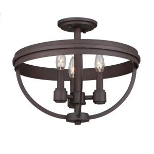 Roxbury - Three Light Semi-Flush Mount
