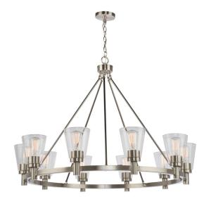 Clarence-10 Light Chandelier in Transitional Style-42 Inches Wide by 29 Inches High