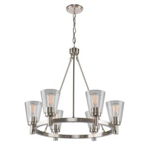 Clarence-6 Light Chandelier in Transitional Style-28 Inches Wide by 29 Inches High
