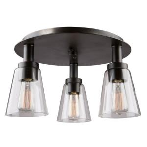 Clarence - Three Light Flush Mount