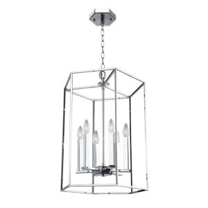 "Modern Elegance - 21.75"" Six Light Chandelier"