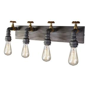 American Industrial - Four Light Wall Mount