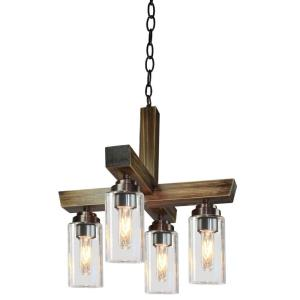 Home Glow-4 Light Chandelier in Transitional Style-17.5 Inches Wide by 19 Inches High