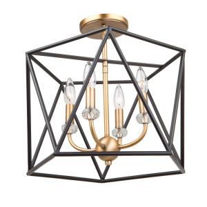 Harmony - Four Light Semi-Flush Mount