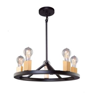 Skyline-5 Light Chandelier in Transitional Style-6.62 Inches Wide by 4.75 Inches High