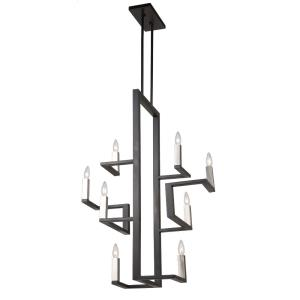 Urban Chic-8 Light Chandelier in Transitional Style-14 Inches Wide by 43 Inches High