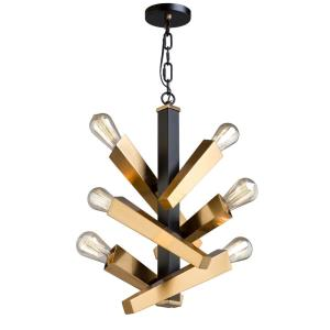 Olympia-6 Light Chandelier in Transitional Style-10 Inches Wide by 25.25 Inches High