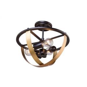 Capri - Three Light Semi-Flush Mount