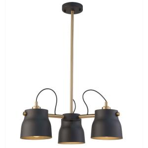 Euro Industrial - 3 Light Chandelier