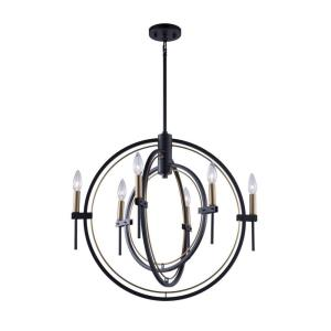Anglesey-6 Light Chandelier in Transitional Style-25 Inches Wide by 23 Inches High