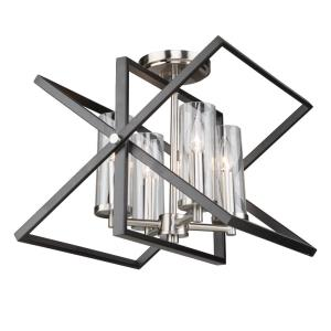 Barnyard - Four Light Semi-Flush Mount