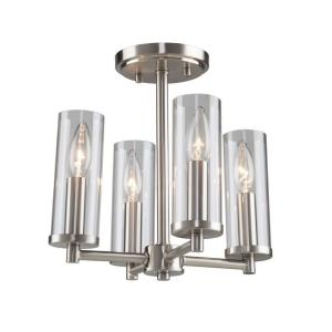 "Vissini - 12"" Four Light Semi-Flush Mount"