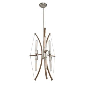 Arco-6 Light Chandelier in Transitional Style-18 Inches Wide by 27.5 Inches High