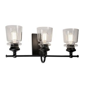 Castara-3 Light Wall Mount-22 Inches Wide by 10.5 Inches High