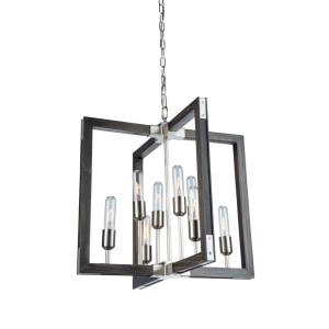 Gatehouse-8 Light Chandelier-21 Inches Wide by 21.5 Inches High