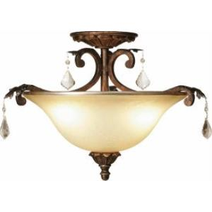 Florence - Three Light Semi-Flush Mount