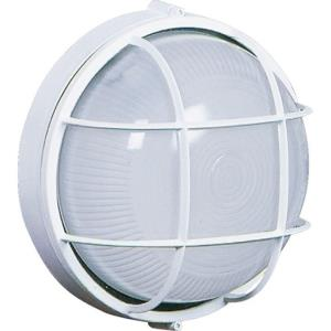 One Light Small Round Wall Sconce-7.5 Inches Wide